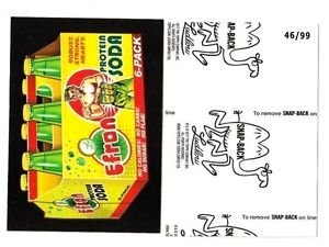 """2017 Wacky Packages 50th Anniversary BLACK LUDLOW """"EFRAN PROTEIN SODA"""" 46/99"""