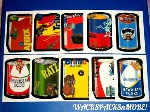 """2007 WACKY PACKAGES ANS6 COMPLETE SET OF """"MAKE YOUR OWN SET"""" 10/10 NICE"""