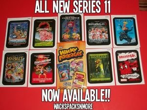 "2013 WACKY PACKAGES ANS11 ""COMING DISTRACTIONS"" COMPLETE INSERT SET + WRAPPER"