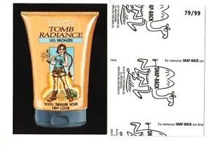"2017 Wacky Packages 50th Anniversary BLACK LUDLOW ""LARA'S TOMB RADIANCE"" 79/99"