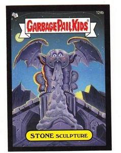 "2013 GARBAGE PAIL KIDS BNS2 BLACK BORDER ""STONE SCULPTURE"" #124b STICKER CARD"