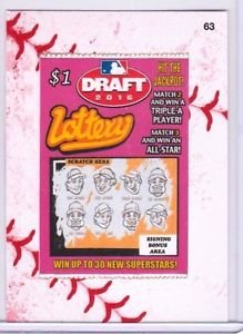 "2016 WACKY PACKAGES BASEBALL SERIES 1 LACE BORDER ""DRAFT LOTTERY"" #63"