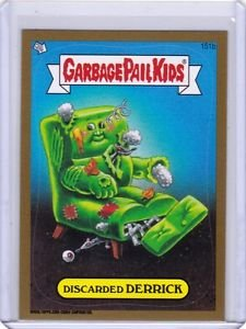 """2013 GARBAGE PAIL KIDS Brand New Series3 (BNS3) """"GOLD"""" #151b *DISCARDED DERRICK*"""