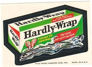 "1974 WACKY PACKAGES ORIGINAL 8TH SERIES ""HARDLY-WRAP"" STICKER"