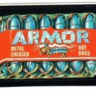 "1986 WACKY PACKAGES ALBUM SERIES STICKER ""ARMOR HOT DOGS"" #38 ONLY 99 CENTS"
