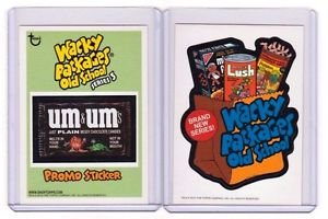 2011 WACKY PACKAGES OLD SCHOOL SERIES 2 *BOTH*INSERT & SERIES 3 PROMO STICKER