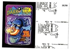 "2017 Wacky Packages 50th Anniversary BLACK LUDLOW ""THE DARK NITE LIGHT"" 16/99"