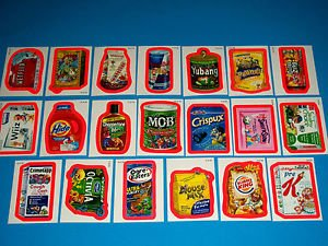 "2010 WACKY PACKAGES ALL NEW SERIES 7 {ANS7} ""PINK BORDER"" COMPLETE SET + WRAPPER"