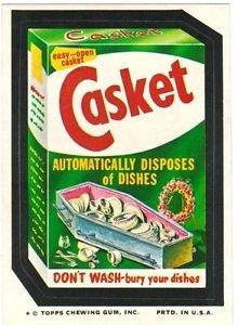 "1974 WACKY PACKAGES ORIGINAL 10TH SERIES ""CASKET SOAP"" STICKER CARD"