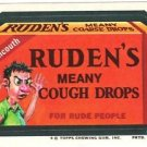 "1974 WACKY PACKAGES ORIGINAL 10TH SERIES ""RUDEN'S COUGH DROPS"" STICKER CARD"