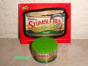 "WACKY PACKAGES ERASER SERIES 2 ""STUMBLE BEE"" ERASER & MATCHING STICKER #20"