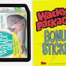 "2007 WACKY PACKAGES ANS6 ""SOUTH BEACHED WHALE DIET"" B5 BONUS STICKER CARD"