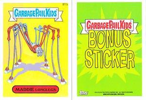 "2014 GARBAGE PAIL KIDS 2ND SERIES BONUS STICKER  ""MADDIE LONGLEGS"" B17a"