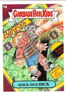 "2006 GARBAGE PAIL KIDS ALL NEW SERIES 5 {ANS5} ""QUICK-PICK RICK"" #35a STICKER"