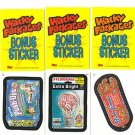 2007 WACKY PACKAGES ALL NEW SERIES 5 (ANS5) **THREE BONUS STICKERS** B1,B2,B3
