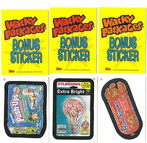 2007 WACKY PACKAGES ALL NEW SERIES 5 (ANS5) **THREE BONUS STICKERS** B1,B2,B3