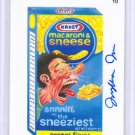 "2015 WACKY PACKAGES SERIES 1 ""MACARONI & SNEESE"" ARTIST AUTO by JUNGHWA IM 05/15"