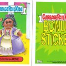 "2014 GARBAGE PAIL KIDS 2ND SERIES BONUS STICKER  ""COSTUMED JUNE"" B14a"