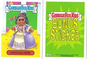 "2014 GARBAGE PAIL KIDS 2ND SERIES BONUS STICKER  ""COSTUMED JUNE"" B14a"