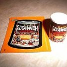 "WACKY PACKAGES ERASER SERIES 1 ""CAVEMAN WICH"" ERASER & MATCHING STICKER #3"