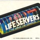 "1974 WACKY PACKAGES ORIGINAL 10TH SERIES ""LIFE SERVERS"" STICKER CARD"