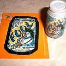 "WACKY PACKAGES ERASER SERIES 1 ""FOUL ICED TEA"" ERASER & MATCHING STICKER #9"