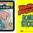 2007 WACKY PACKAGES ALL NEW SERIES 5 (ANS5) *SYLBRAINIA BULBS* BONUS STICKER B2