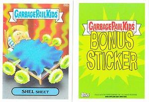 """2015 GARBAGE PAIL KIDS SERIES 1  """"SHEL SHEET"""" B8b BONUS STICKER"""