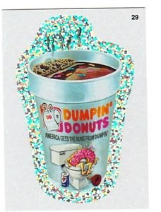 "2011 WACKY PACKAGES ALL NEW SERIES8 {ANS8} SILVER FLASH FOIL ""DUMPIN'DONUTS"" #29"