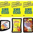 WACKY PACKAGES ALL NEW SERIES 8 {ANS8} BONUS CARD SET B1,B2,B3 FREE SHIPPING!