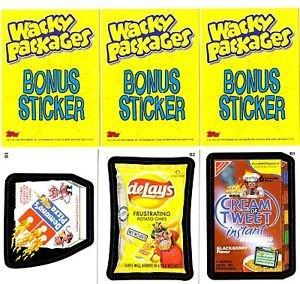 WACKY PACKAGES ALL NEW SERIES 8 {ANS8} BONUS CARD SET B1,B2,B3 FREE SHIPPING!