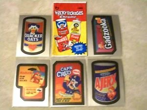 2014 WACKY PACKAGES CHROME SERIES 1 WHERE ARE THEY NOW? COMPLETE INSERT SET 5/5