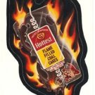 "1986 WACKY PACKAGES ALBUM SERIES STICKER ""HOTTEST COAL CAKES"" #42 ONLY 99 CENTS"
