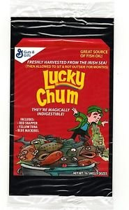 "2017 Wacky Packages 50th Anniversary OVERSIZE ART CARD ""LUCKY CHUM CEREAL"" #7"