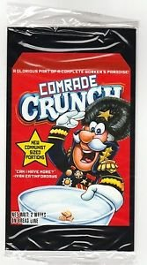 """2017 Wacky Packages 50th Anniversary OVERSIZE ART CARD """"COMRADE CRUNCH"""" #1"""