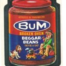 "1974 WACKY PACKAGES ORIGINAL 10TH SERIES ""BUM BAKED BEANS"" STICKER CARD"