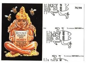 """2017 Wacky Packages 50th Anniversary BLACK LUDLOW """"BEYONCE BEE HONEY"""" 76/99"""