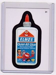 "2013 WACKY PACKAGES ALL NEW SERIES 11 {ANS11} ""ELMO'S GLUE"" #31 STICKER CARD"