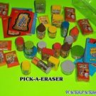 "WACKY PACKAGES 2ND SERIES ""PICK-A-ERASER"" (PICK 1 ) + MATCHING STICKER   GPK"