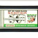 "1986 WACKY PACKAGES ALBUM SERIES STICKER ""SCHTICK BLADES"" #67 ONLY 99 CENTS"
