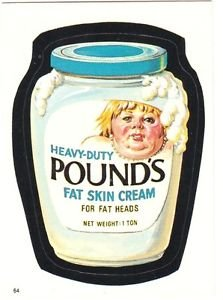 """1986 WACKY PACKAGES ALBUM SERIES STICKER """"POUNDS"""" #64 ONLY 99 CENTS"""