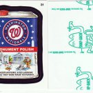 "2016 WACKY PACKAGES BASEBALL SERIES 1 GREEN LUDLOW ""WASHINGTON NATIONALS"" #31"