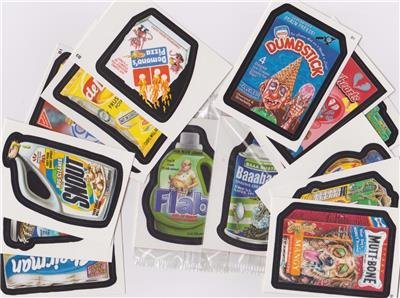 WACKY PACKAGES NICE LOT OF FOURTEEN BONUS STICKERS DIFFERENT SERIES GREAT PRICE!