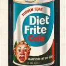 "1974 WACKY PACKAGES ORIGINAL 10TH SERIES ""DIET FRITE COLA"" STICKER"