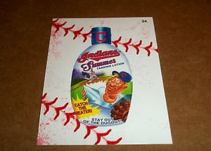"2016 WACKY PACKAGES BASEBALL SERIES 1 LACE BORDER STICKER ""TANNING LOTION"" #24"