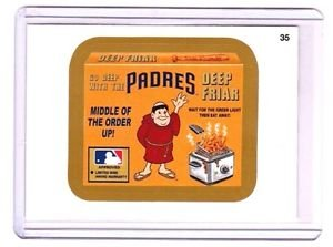 "2016 WACKY PACKAGES BASEBALL SERIES 1 GOLD BORDER ""SD PADRES DEEP FRIAR"" #35"