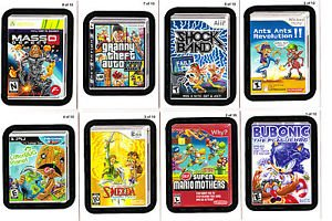 "2012 WACKY PACKAGES ALL NEW SERIES 9 {ANS9} ""LAME GAMES"" COMPLETE SET + WRAPPER."