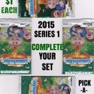 "2015 GARBAGE PAIL KIDS {SERIES 1} BLACK BORDER STICKERS ""PICK-A-SINGLE"" A'S"