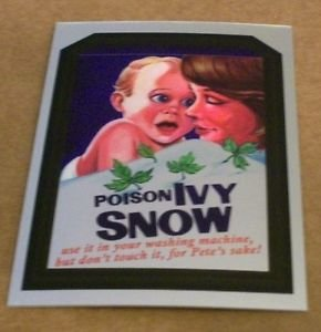 """WACKY PACKAGES CHROME SERIES 1 """"POISON IVY SNOW"""" #12 CUTTING ROOM FLOOR INSERT"""