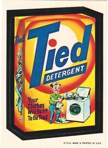 """1974 WACKY PACKAGES WONDER BREAD 2nd SERIES """"TIED DETERGENT"""" STICKER NM"""